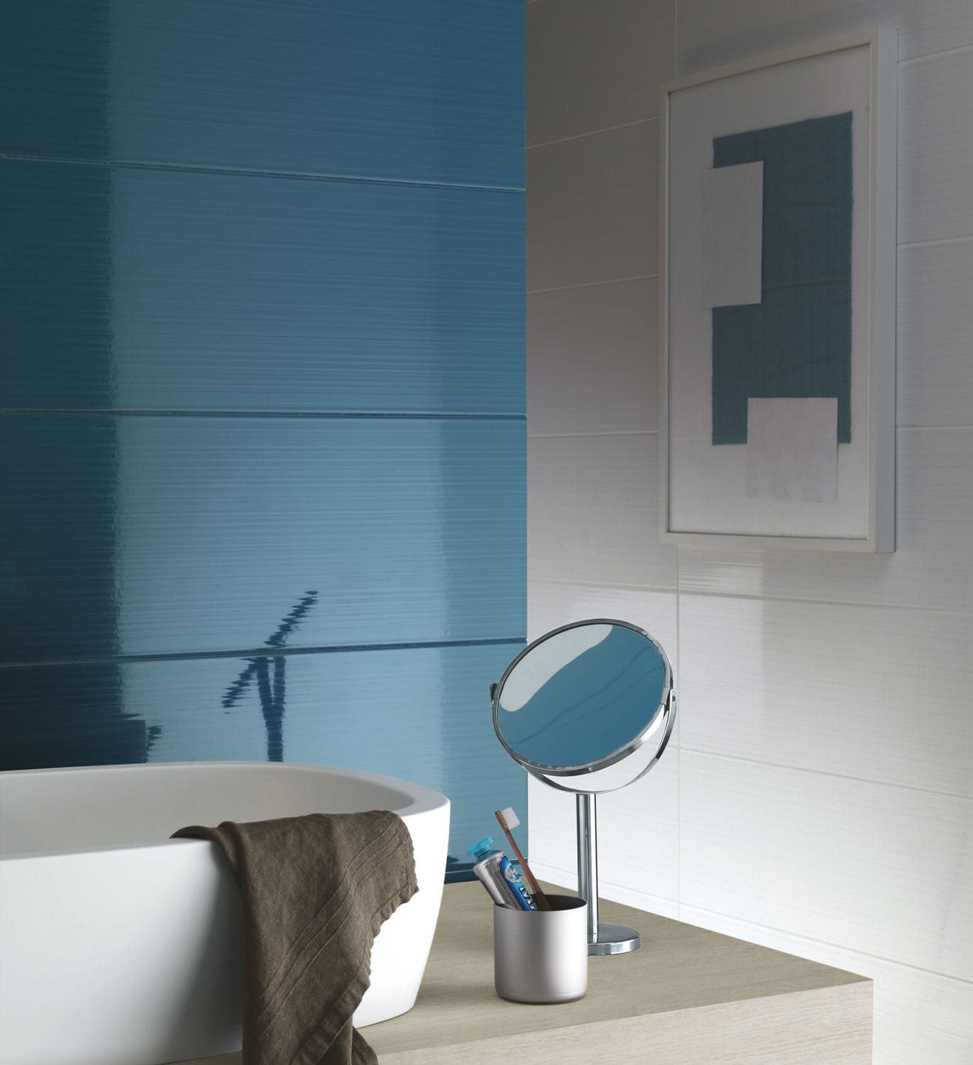 Bathroom tile / wall / ceramic / high-gloss - SMART - Ragno - Videos
