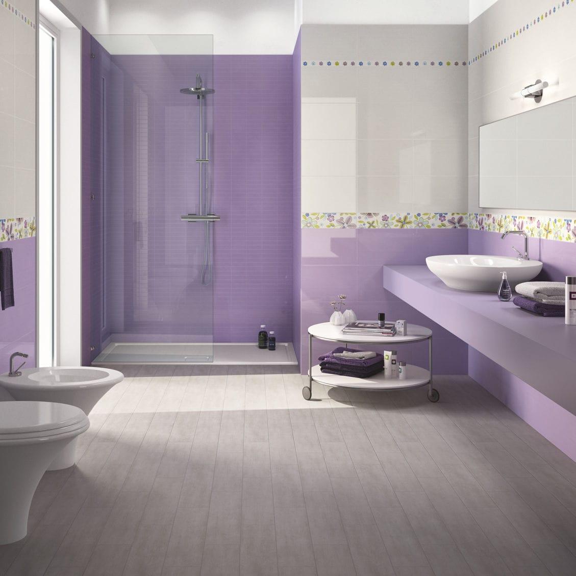 Salle De Bain Orange Et Violet: Renovation de salle bain. Salle de ...