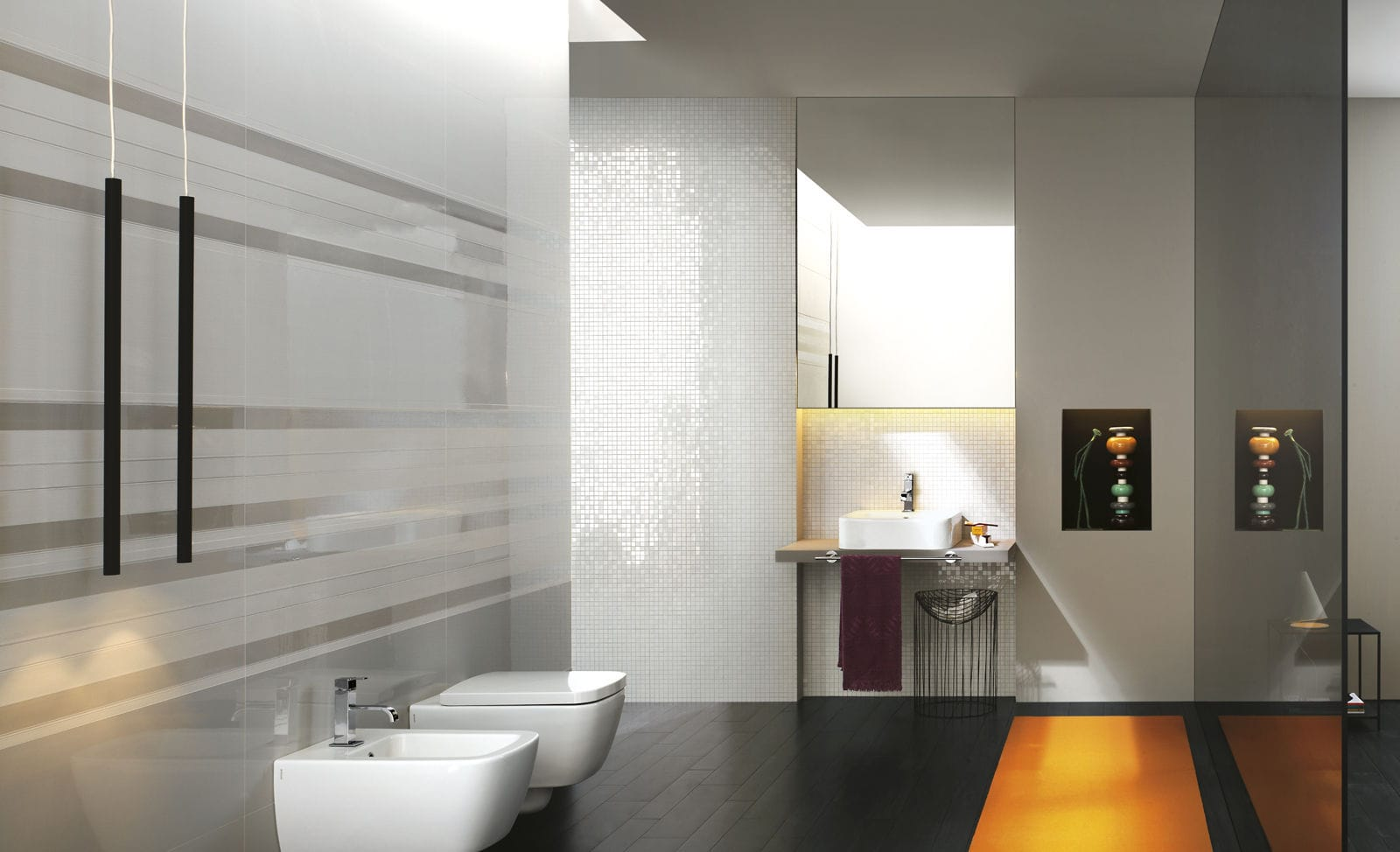 Bathroom tile / wall / ceramic / reflective - STILL - Ragno - Videos