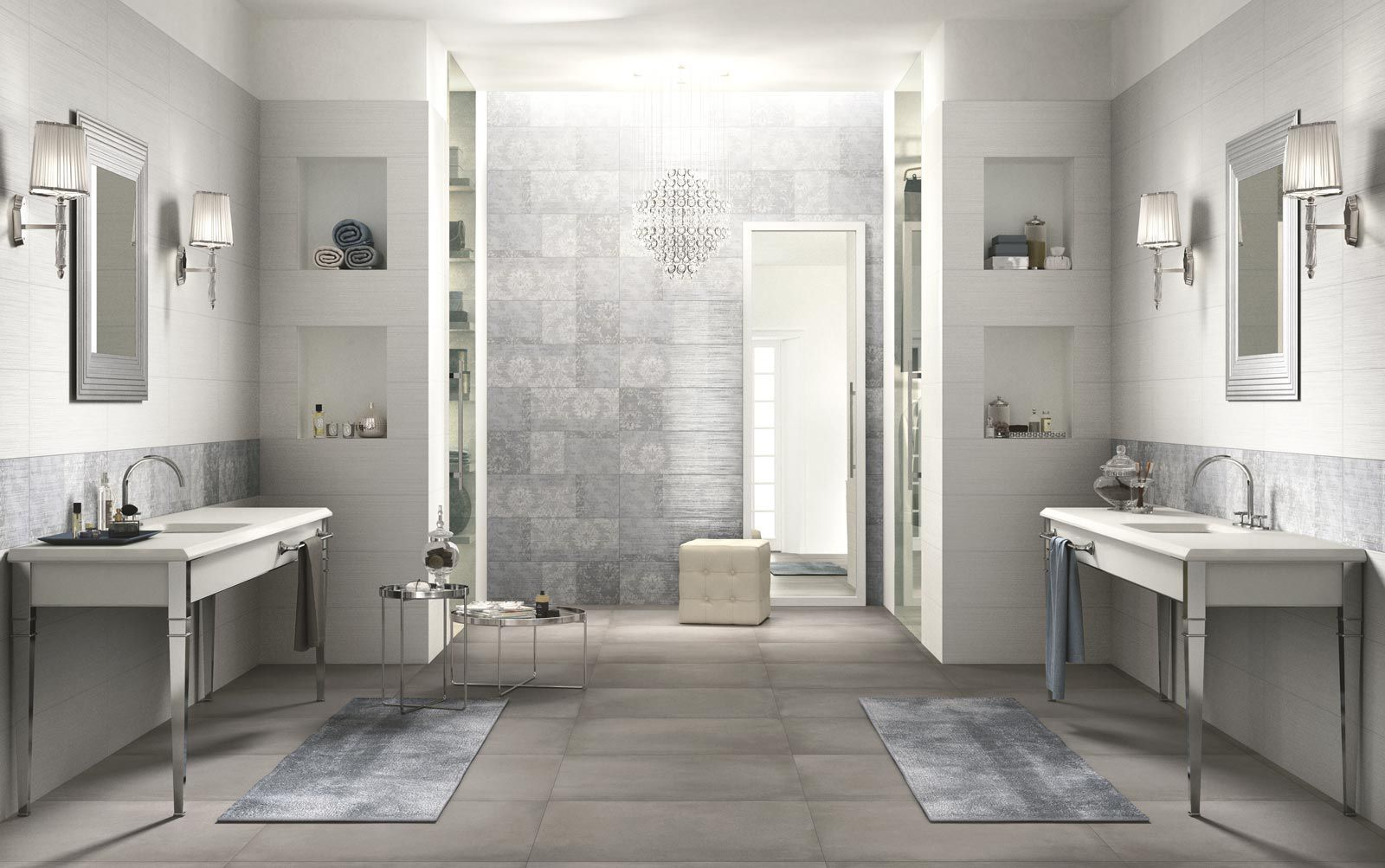 Bathroom tile / wall / ceramic / striped - WALLPAPER - Ragno