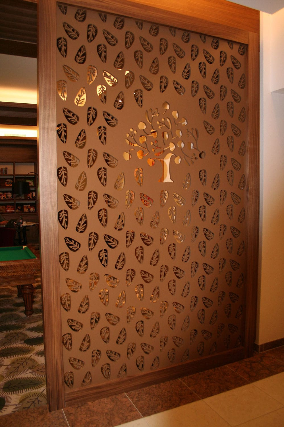 decorative panel / mdf / for partition walls / perforated - park