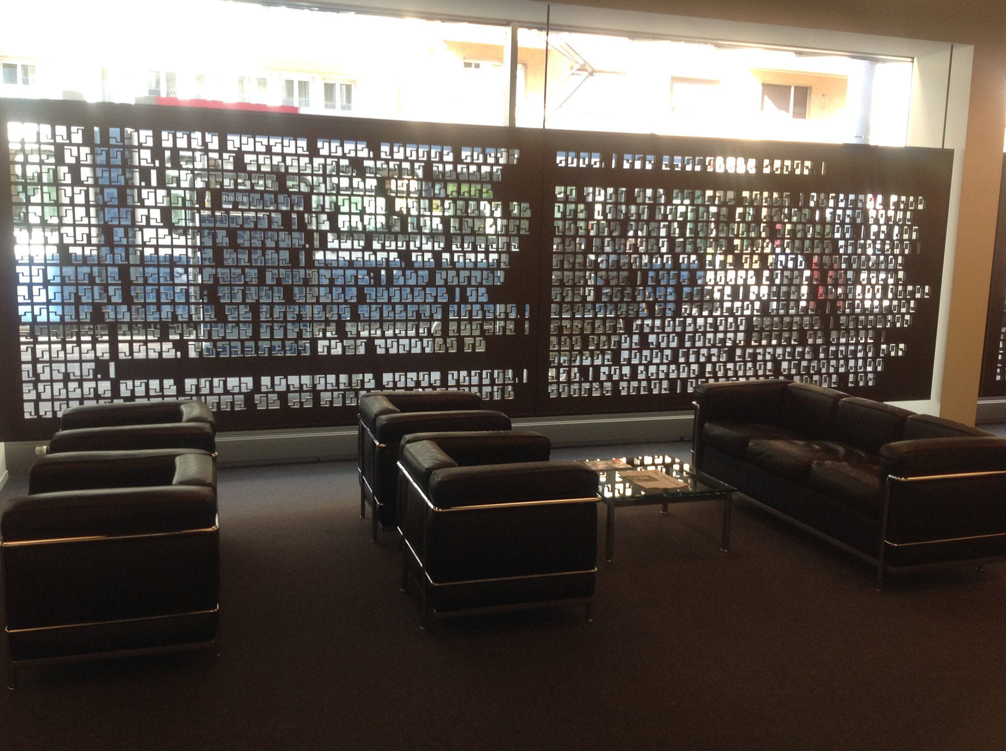 Decorative Panel MDF For Interior Fittings Perforated LAW FIRM ZURICH Bruag