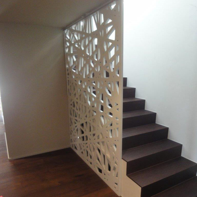 High Quality MDF Railing / With Panels / Indoor / For Stairs ...