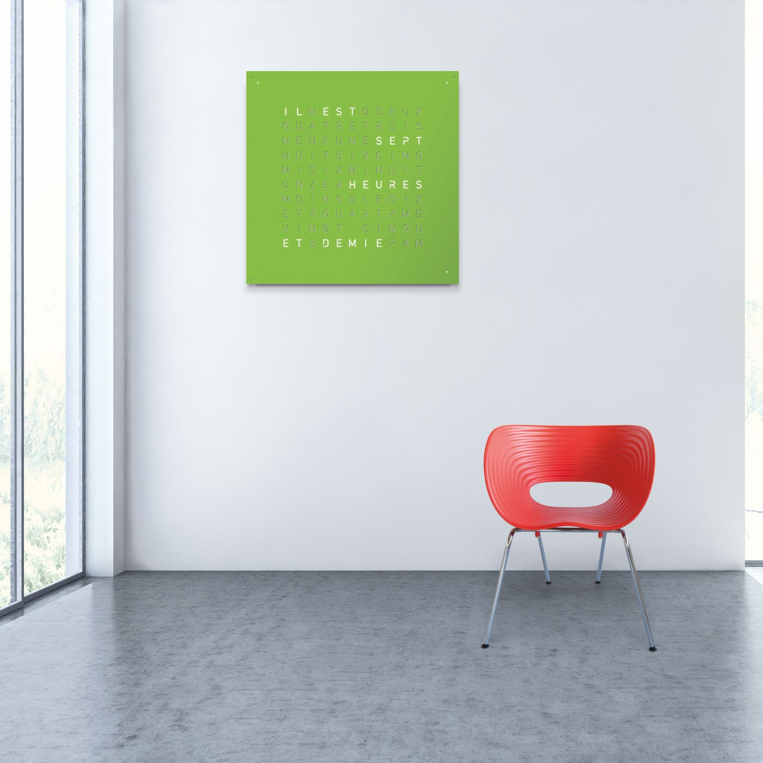 Contemporary clock analog wall mounted led large qlocktwo contemporary clock analog wall mounted led large qlocktwo amipublicfo Image collections