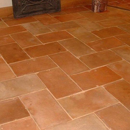 Indoor Tile Floor Terracotta Aged Parefeuille 02036 Bca