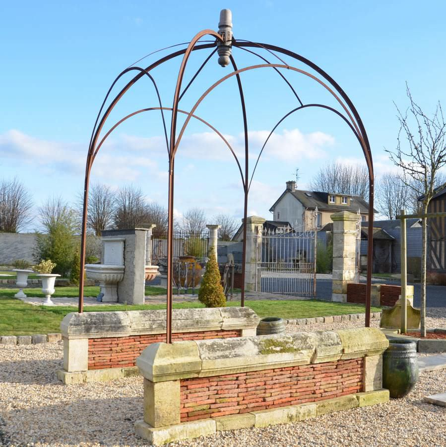 Wrought iron gazebo / for public spaces - bca materiaux anciens on round swimming pool designs, round tree house designs, round stained glass designs, round jewelry designs, round patio designs, round kitchen designs, round gate designs, round chimney designs, round picket fence designs, round ironwork designs, round art designs, round pottery designs,