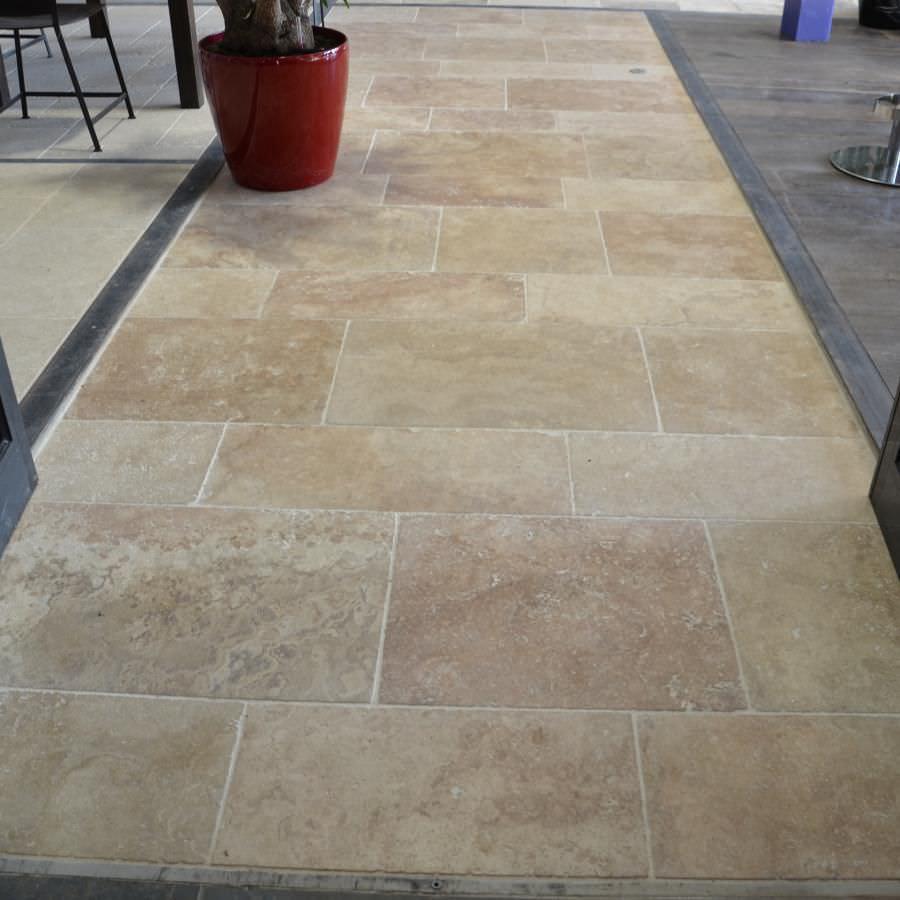 Indoor tile / outdoor / floor / travertine 01251 bca materiaux anciens ...