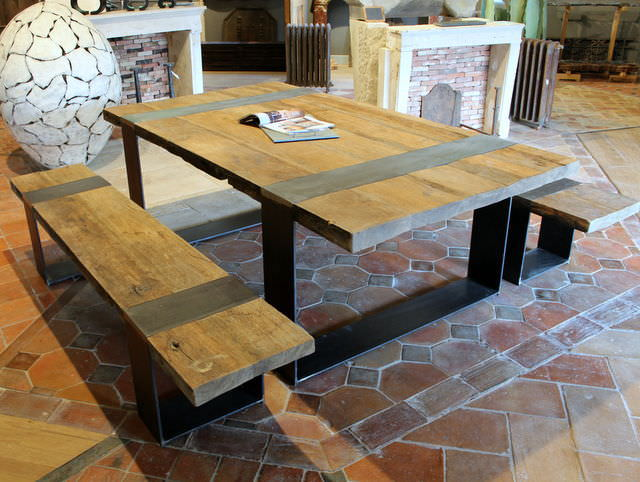 Awesome Table De Jardin En Bois Et Fer Forge Pictures - Amazing ...