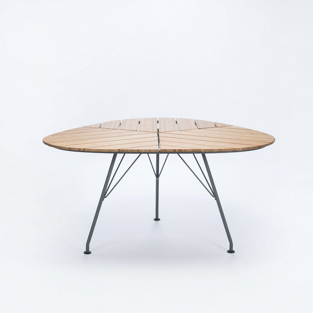 Contemporary dining table metal bamboo triangular LEAF Houe
