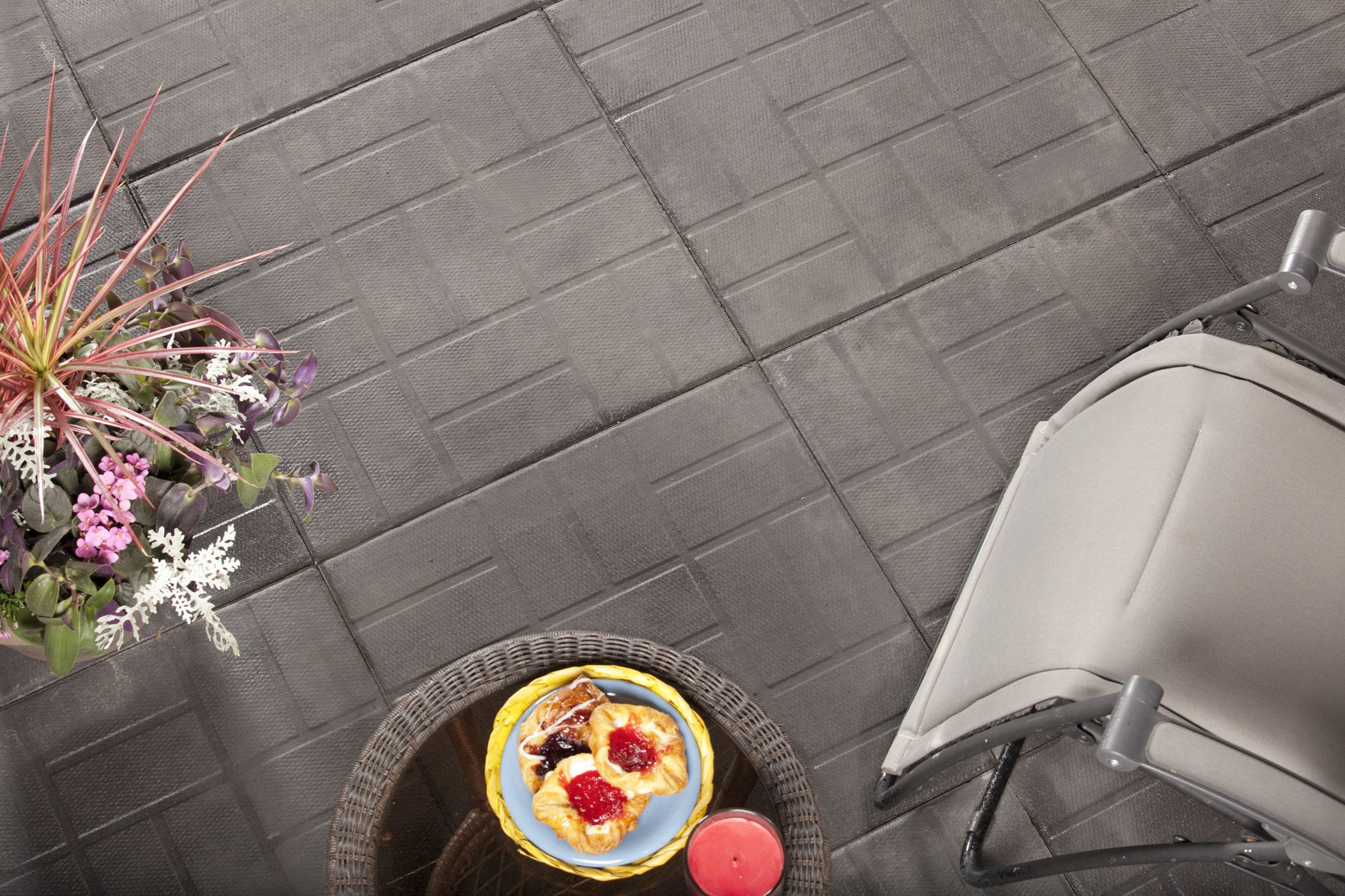 outdoor tile floor high performance concrete geometric
