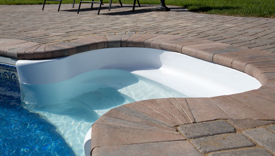 Stone swimming pool coping - shaw brick