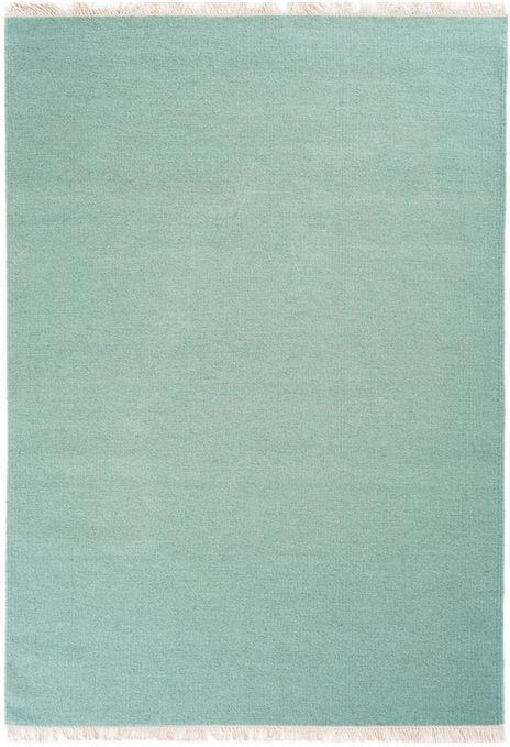 Contemporary Rug Plain Wool Rectangular Rainbow Linie