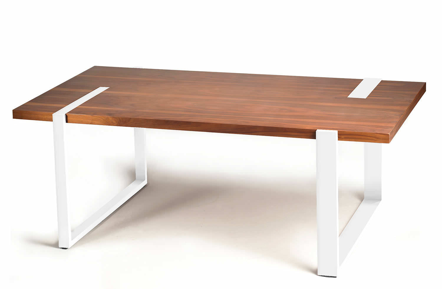Contemporary dining table walnut plywood lacquered MDF MAX