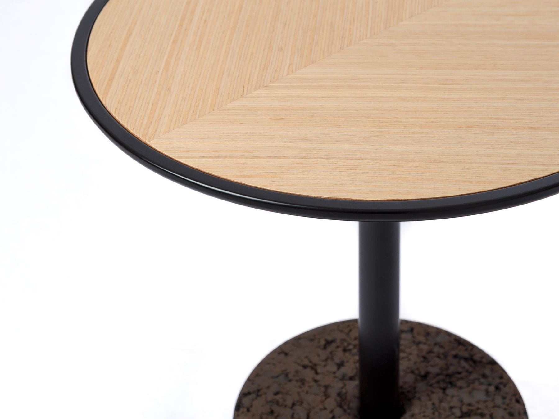 Contemporary Coffee Table Oak Cork Round