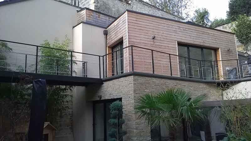 Metal railing / cable / wire mesh / outdoor - CAEN - ESCALIER ...