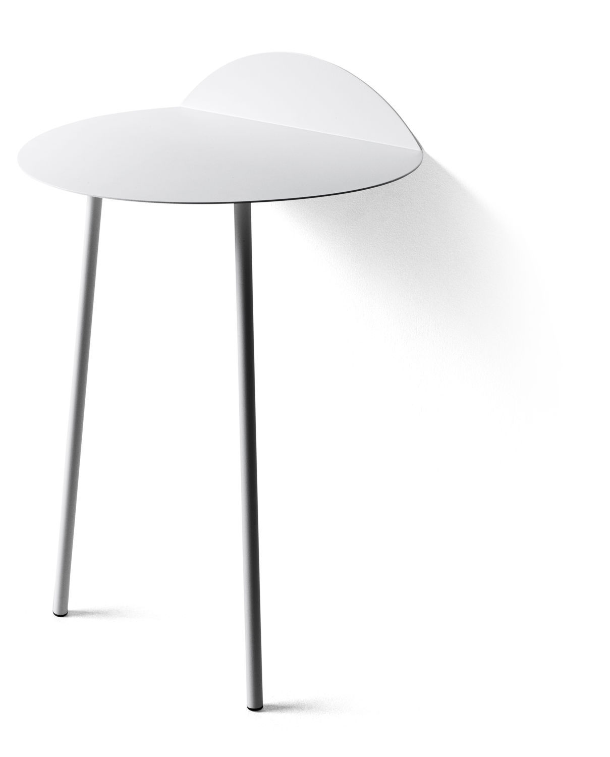 ... Contemporary Side Table / Steel / Wall Mounted / Green