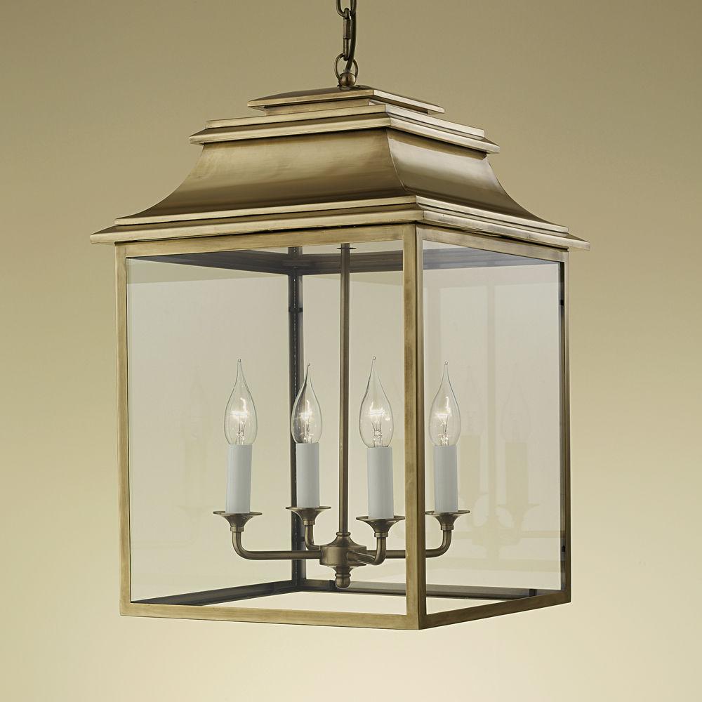 Pendant lamp / contemporary / brass / glass - MAYFAIR LANTERNS
