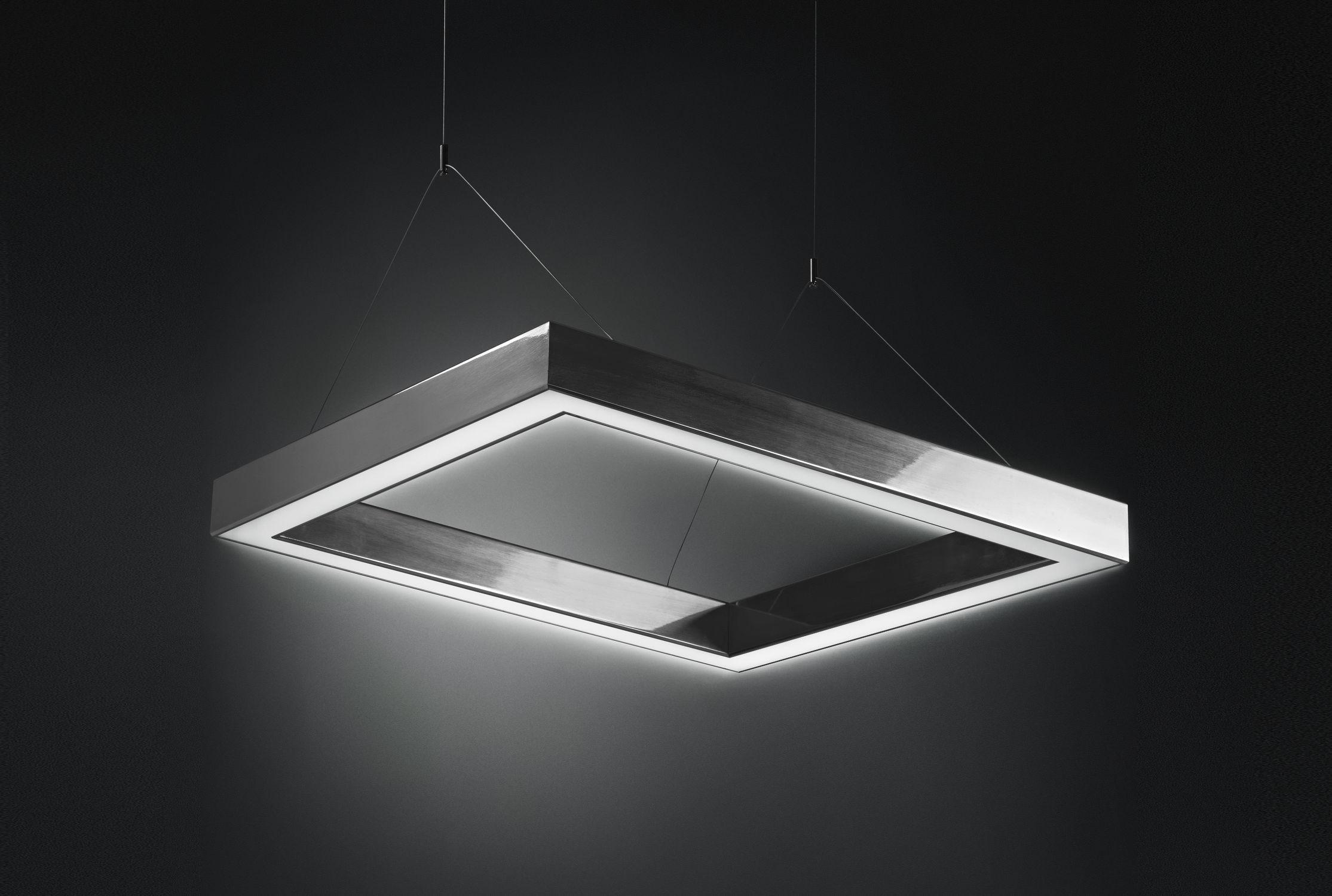 ... Hanging light fixture / LED / square / rectangular DINAMICA Q PLEXIFORM  ...