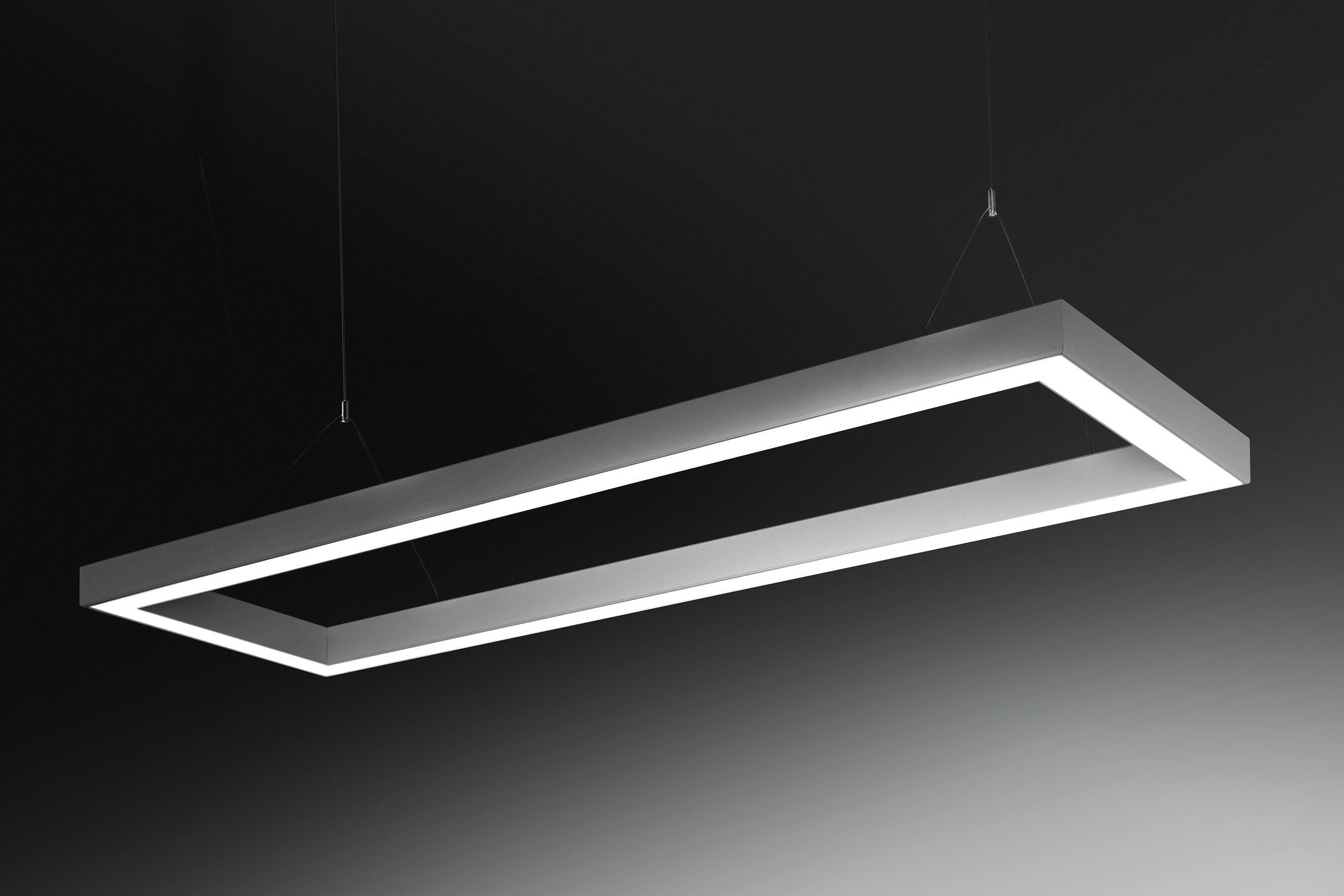 ... Hanging light fixture / LED / square / rectangular DINAMICA Q PLEXIFORM