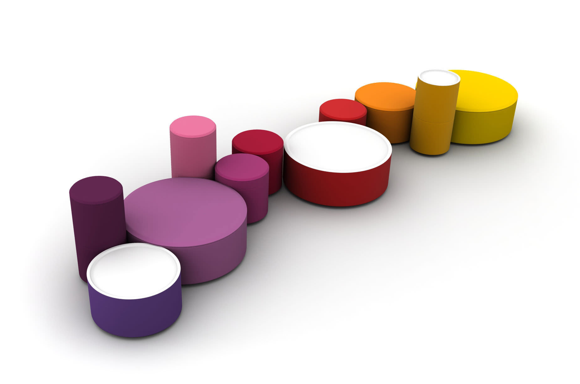 Pop Art design pouf / fabric / modular / round - ROUNDABOUT - LINA ...