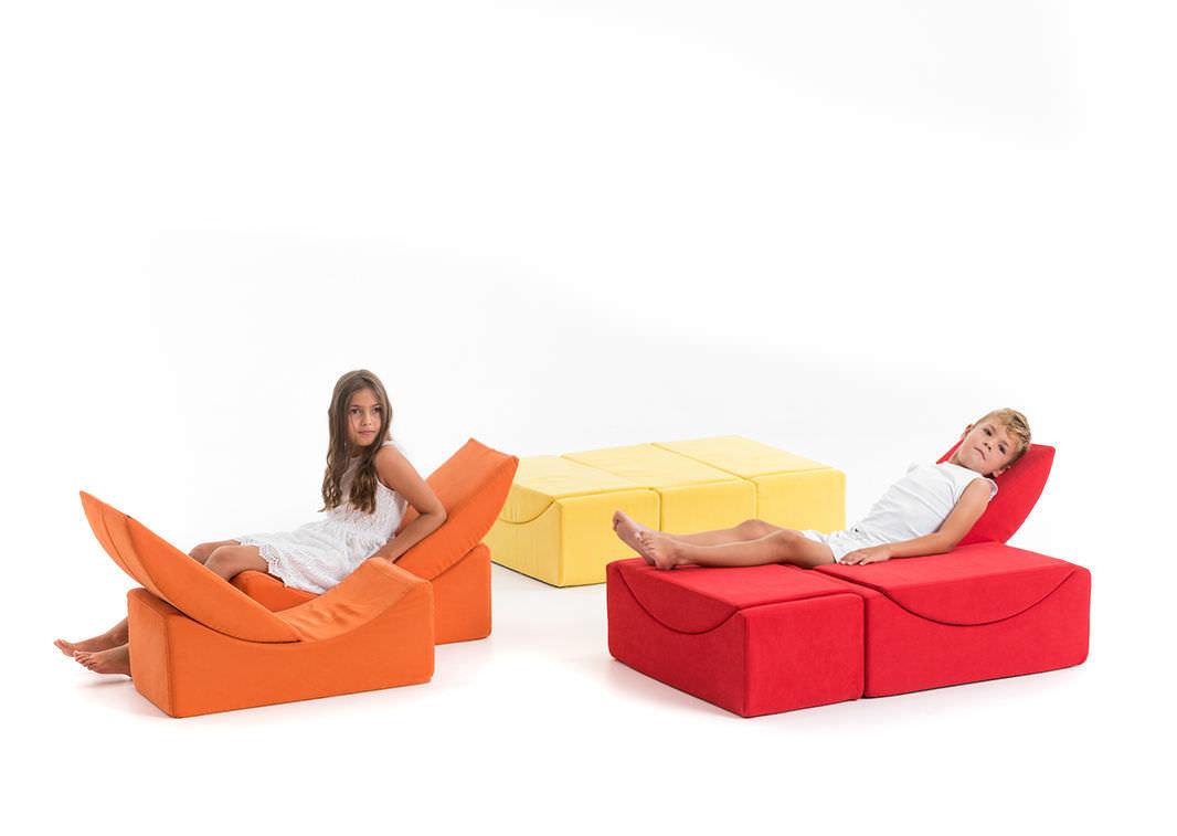 ... Modular Upholstered Bench / Pop Art Design / Polyethylene /  Kindergarten MOON SMALL LINA Furniture ...