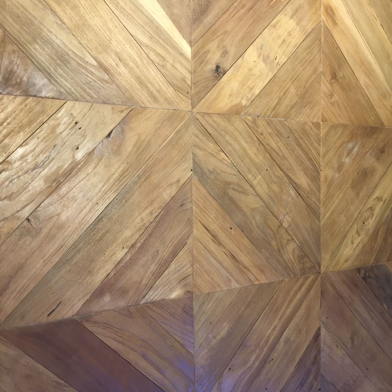 Solid Parquet Floor Glued Teak Tile Galunggung Teak Story