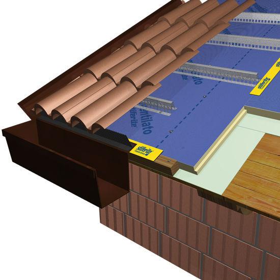 ... Roof Insulating Sandwich Panel / Fiberglass Facing / Polyisocyanurate  (PIR) Core ISOVENTILATO Stiferite