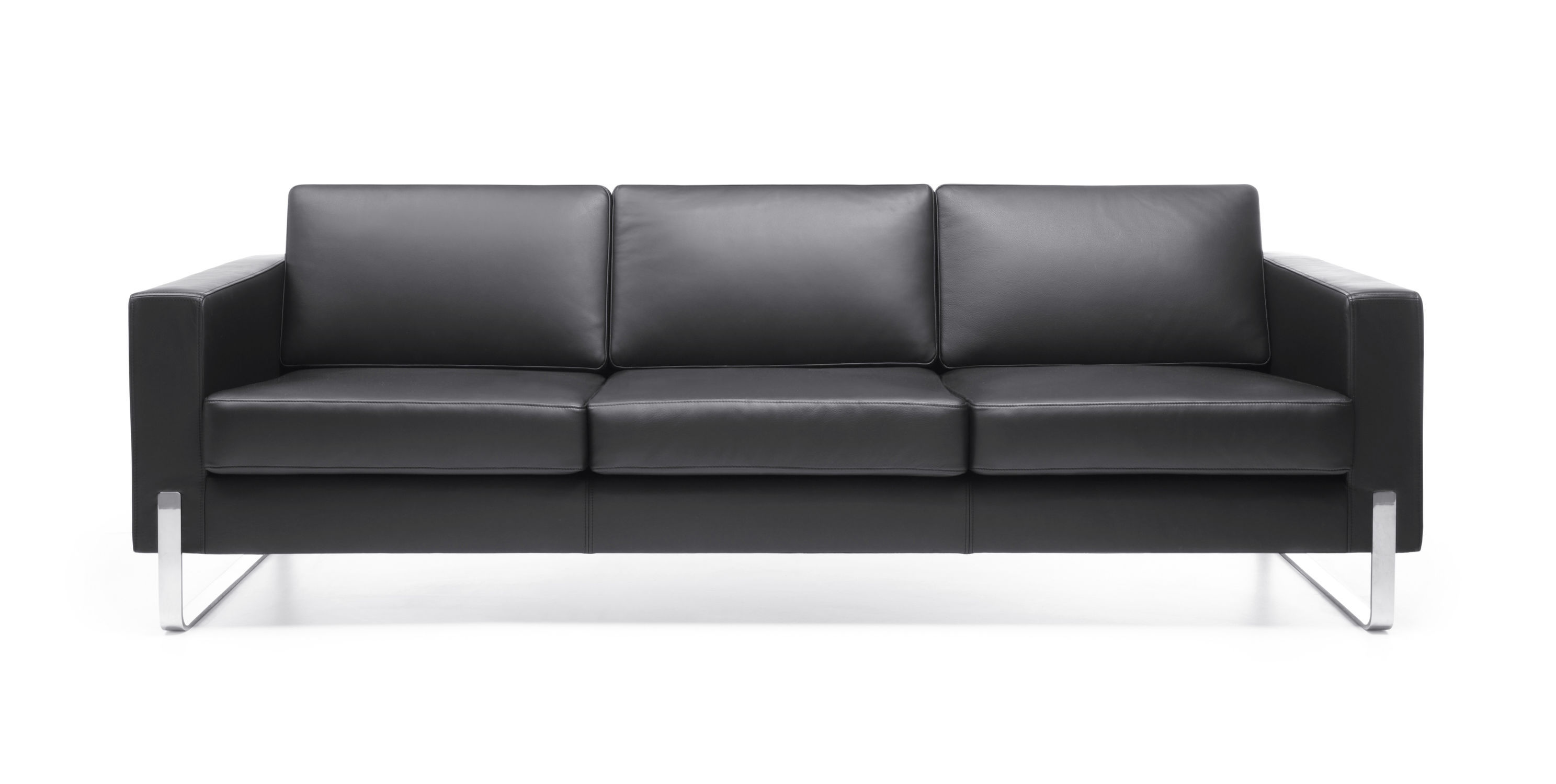Contemporary sofa leather metal mercial MYTURN by Paul