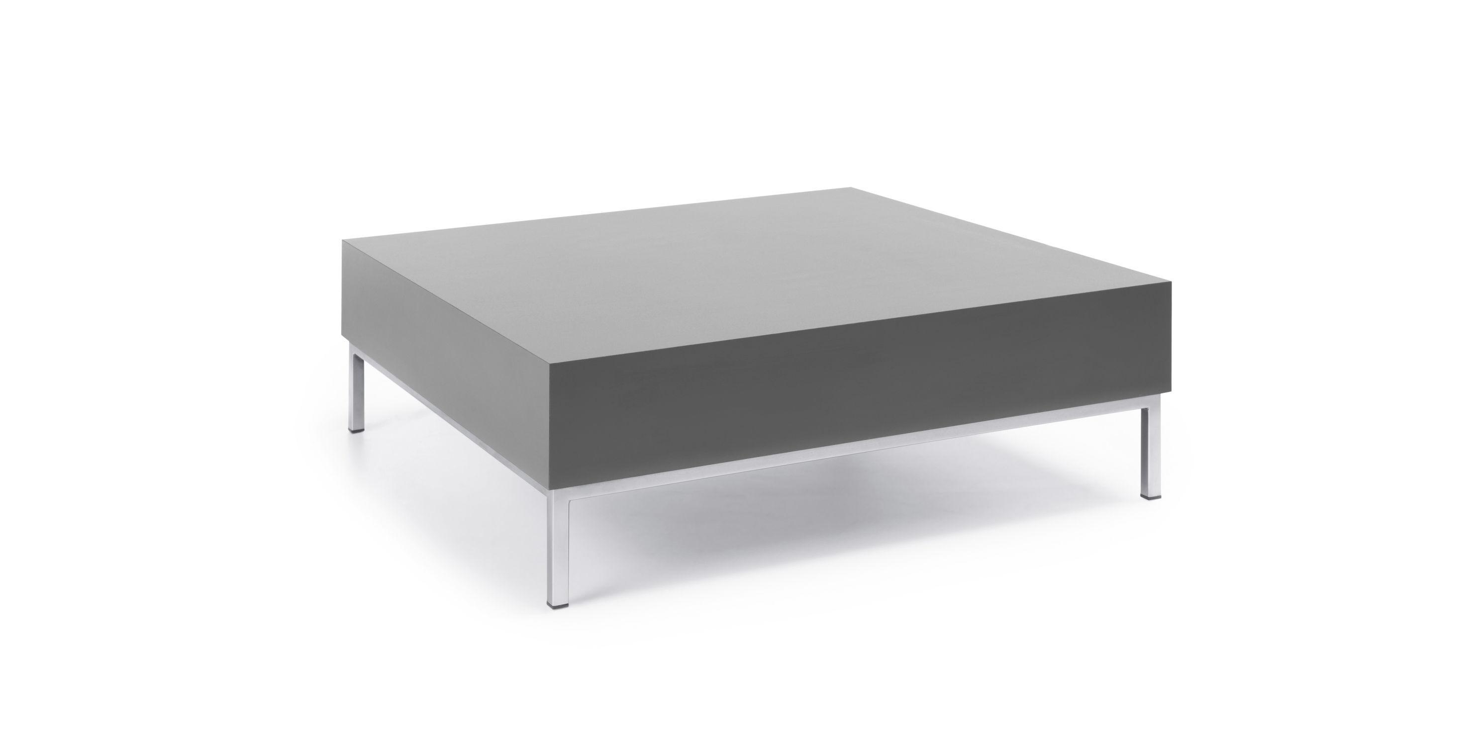 Contemporary coffee table metal oak teak MYTURN by Paul