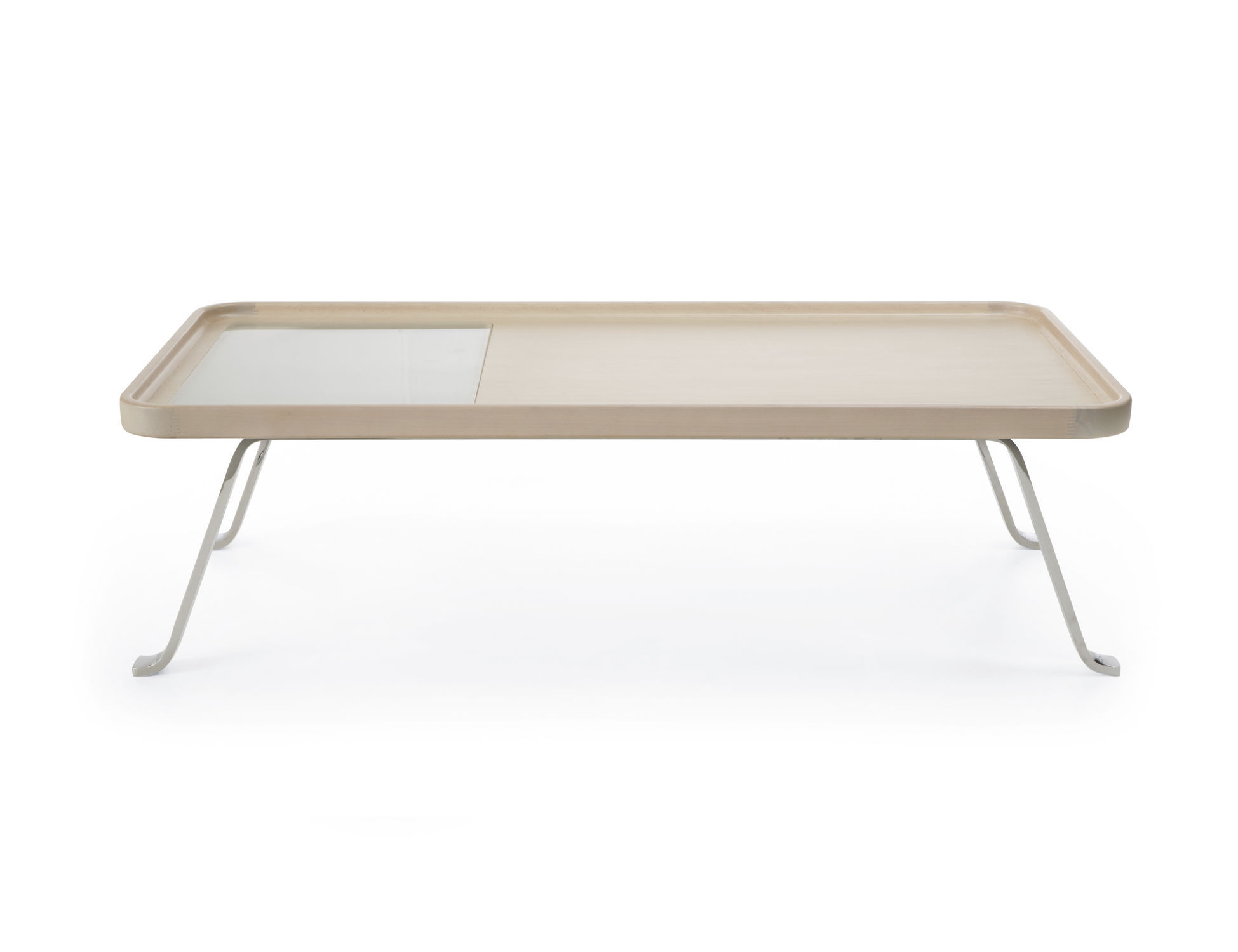 Contemporary coffee table wooden metal rectangular OCTOBER