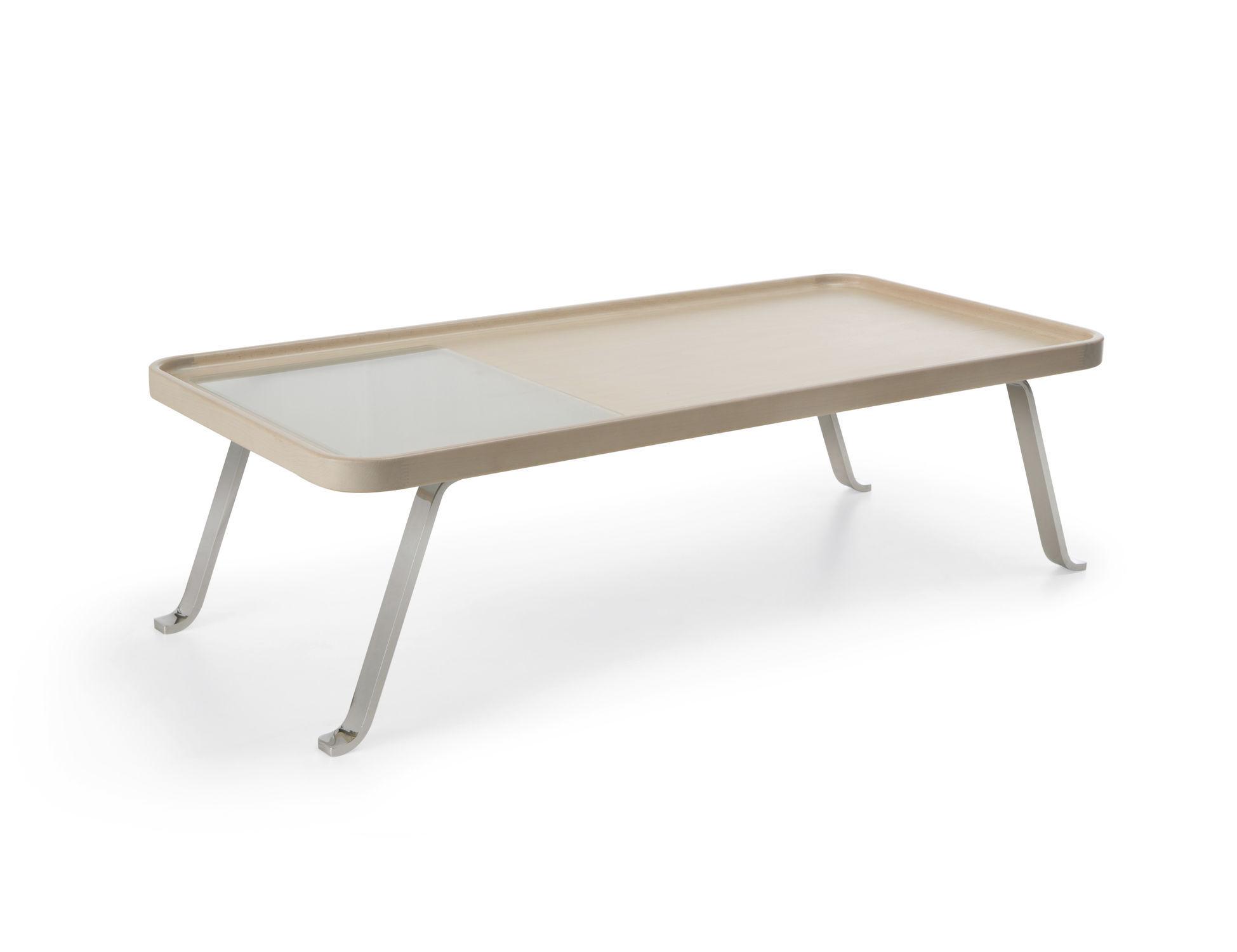 Contemporary coffee table wooden metal rectangular OCTOBER