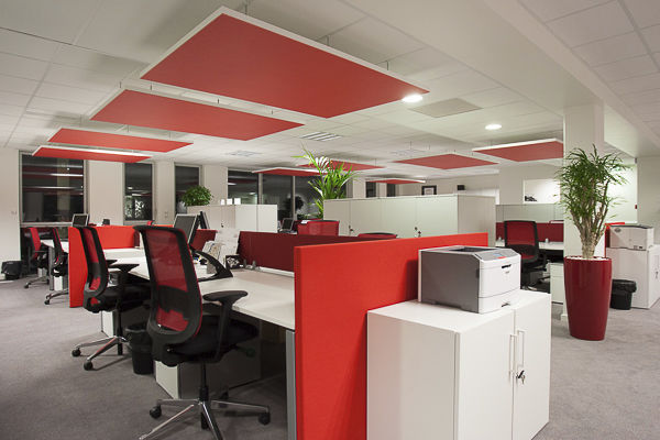 Ceiling Acoustic Panel / For Interior Walls / Fabric / Colored ...