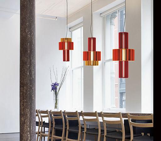 Pendant lamp / contemporary / anodized aluminum / LED