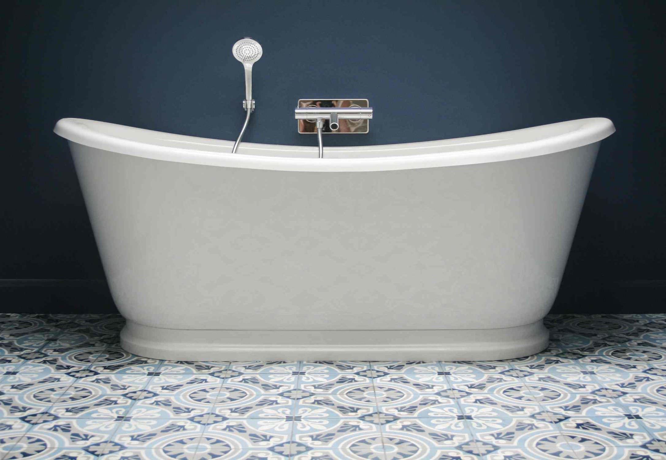 Bathroom tile / floor / cement / Victorian pattern - ART NOUVEAU ...