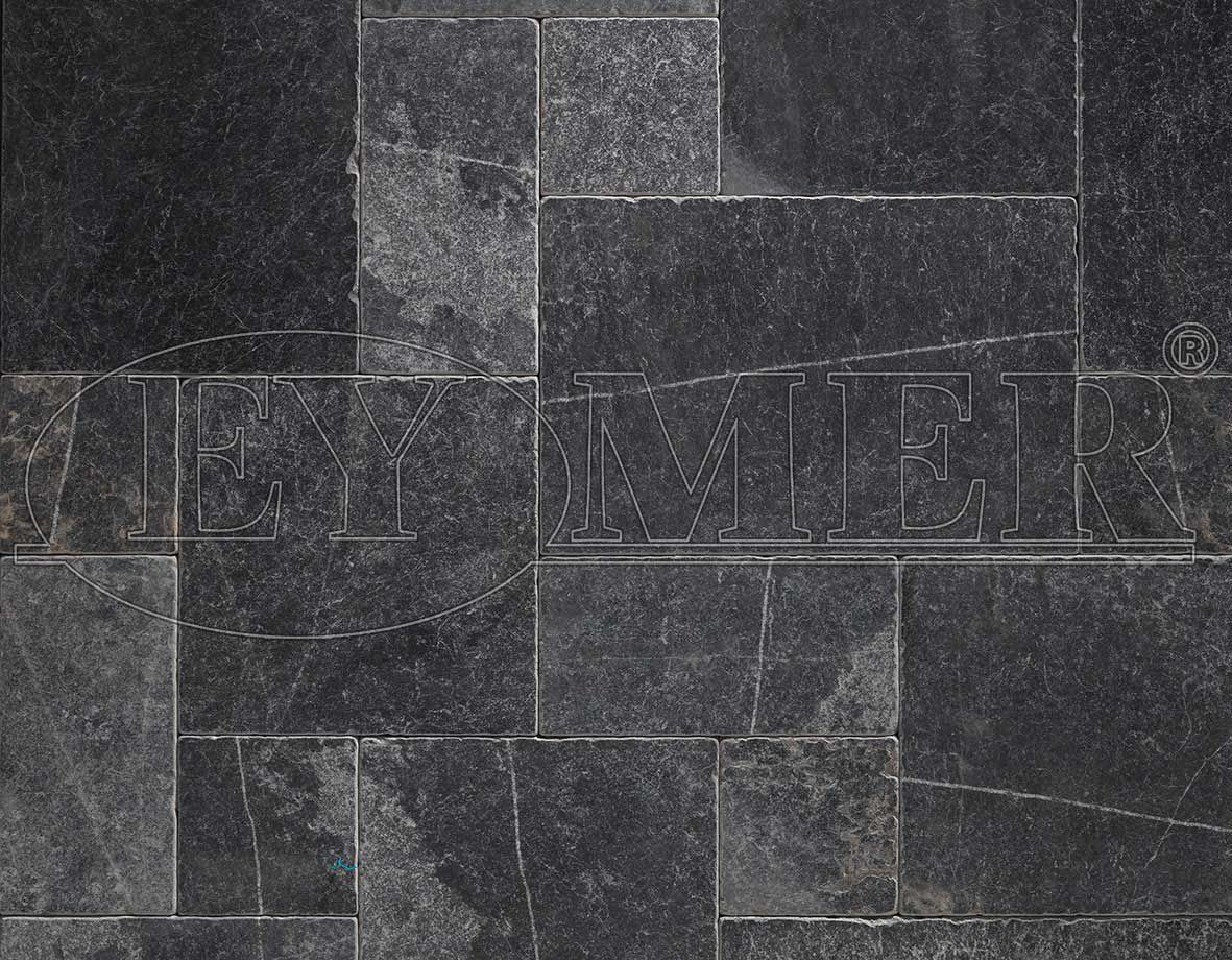 Indoor tile floor marble matte BLACK MARBLE TUMBLED EYMER