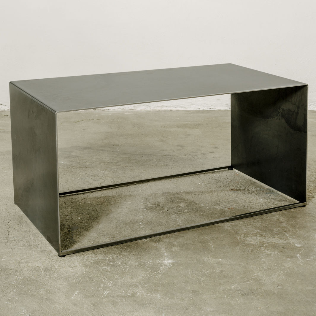 Industrial design coffee table / iron / sheet metal / rectangular ...