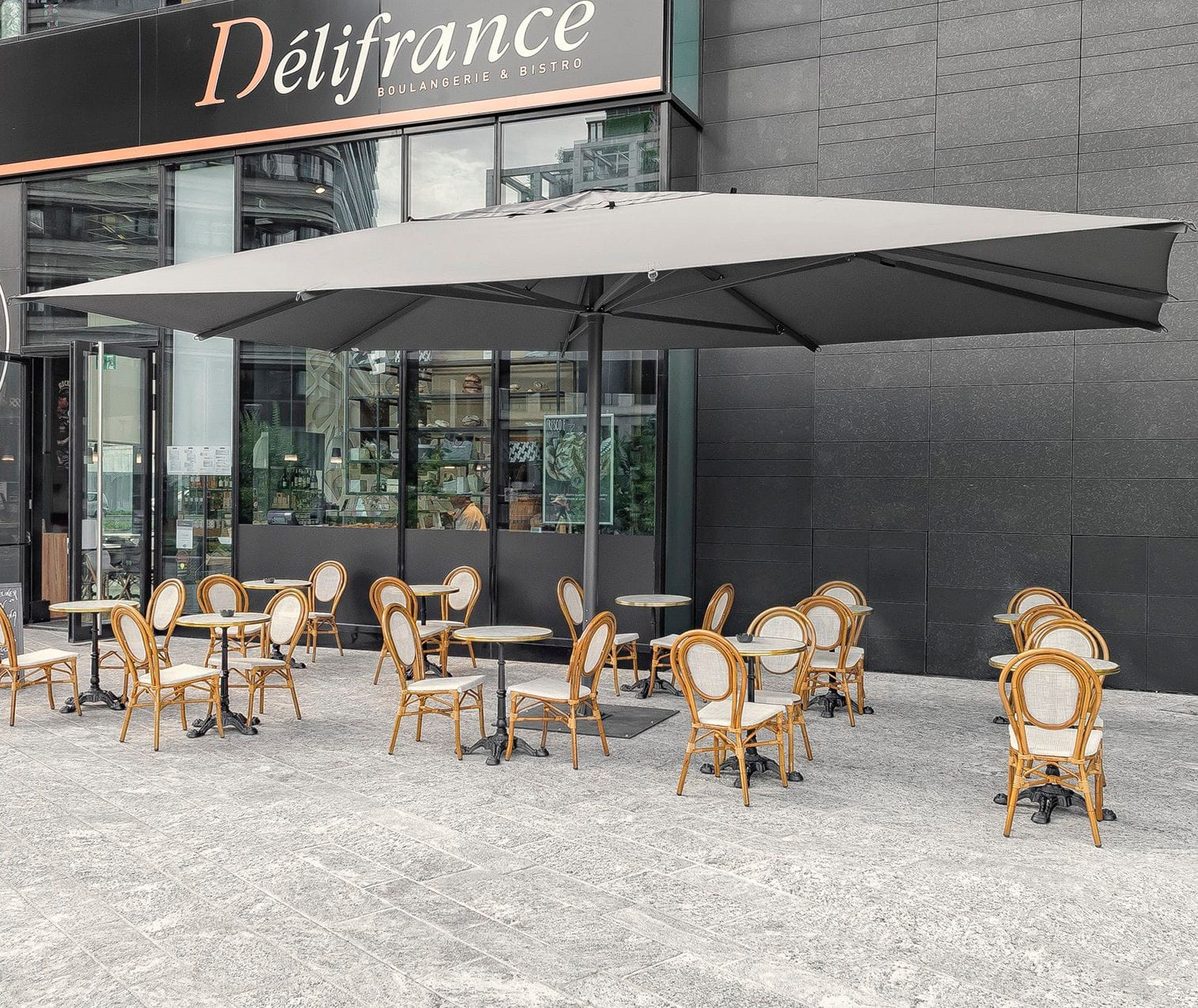 mercial patio umbrella fabric wind resistant DEHOR
