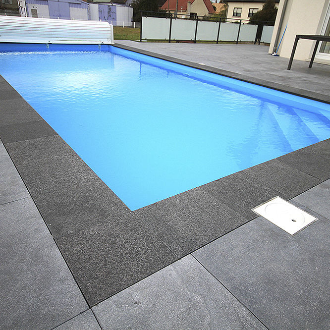 Stone swimming pool coping - EIFEL - Bauma-stone - Videos