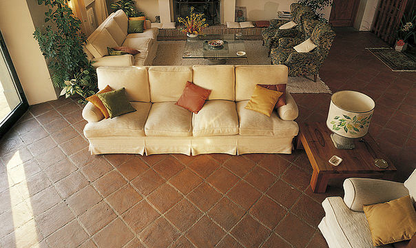 Living Room Tile For Floors Terracotta Clay Tuscan