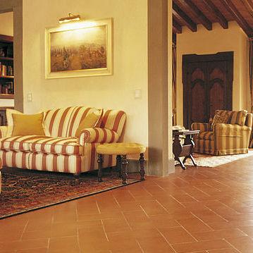 Living room tile / for floors / terracotta / clay - TUSCAN ...