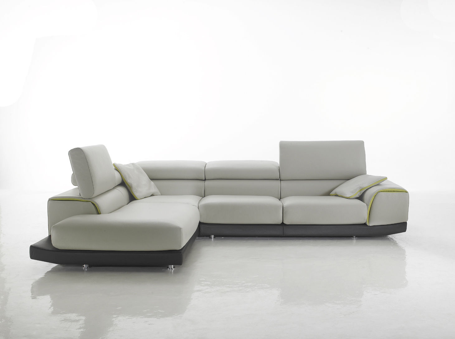 Corner Sofa Contemporary Leather Fabric Cezanne