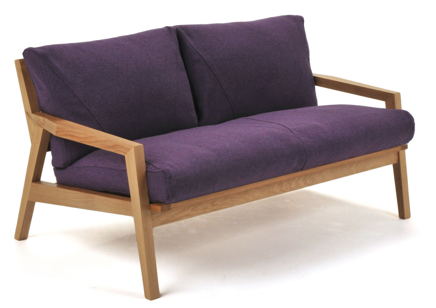 Compact Sofa Contemporary Leather Wood