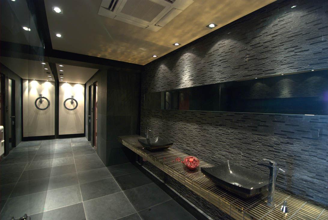 Indoor mosaic tile / bathroom / wall / stone - MATRIX BLACK ...