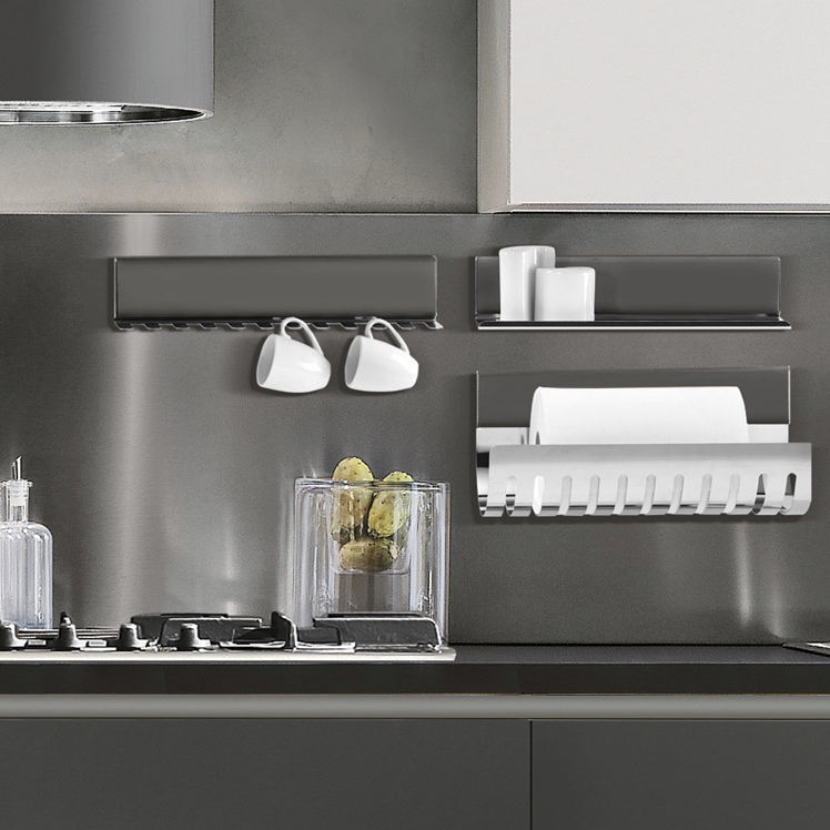 Wall Mounted Shelf / Contemporary / Aluminum / Stainless Steel   MAGNETIKA  KITCHEN By Marcarch