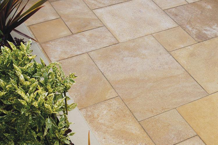 Outdoor Tile Floor Wall Sandstone Golden Buff