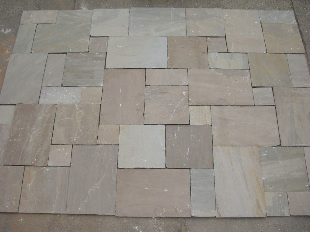 Outdoor Tile / Floor / Sandstone / Brushed RAJ GREEN Classical Natural  Stone ...