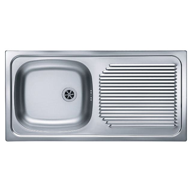 superior Single Bowl Stainless Steel Sink With Drainboard Part - 16: single-bowl kitchen sink - stainless steel - with drainboard - BASIC 60