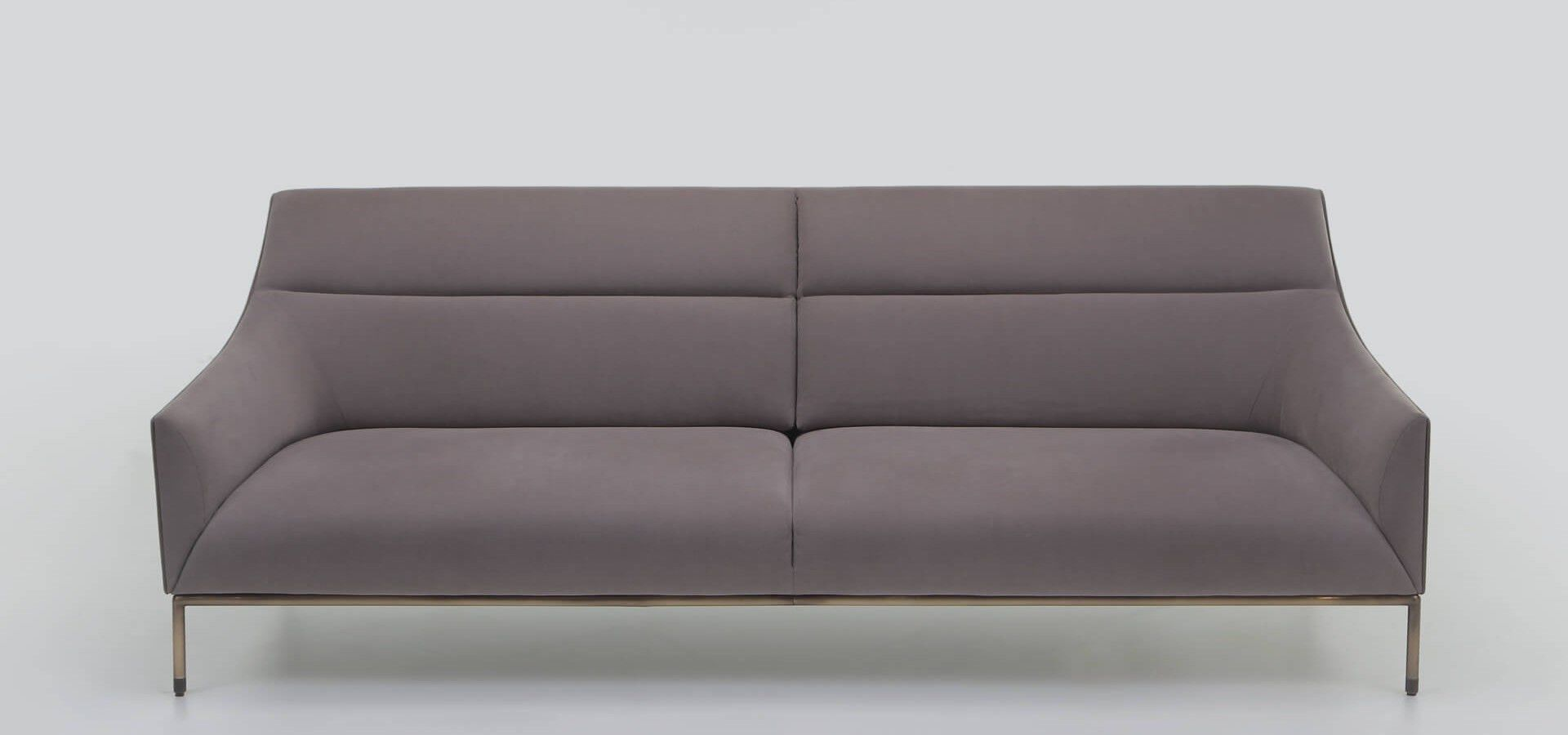 Contemporary Sofa Fabric Leather By Christophe Pillet Curve