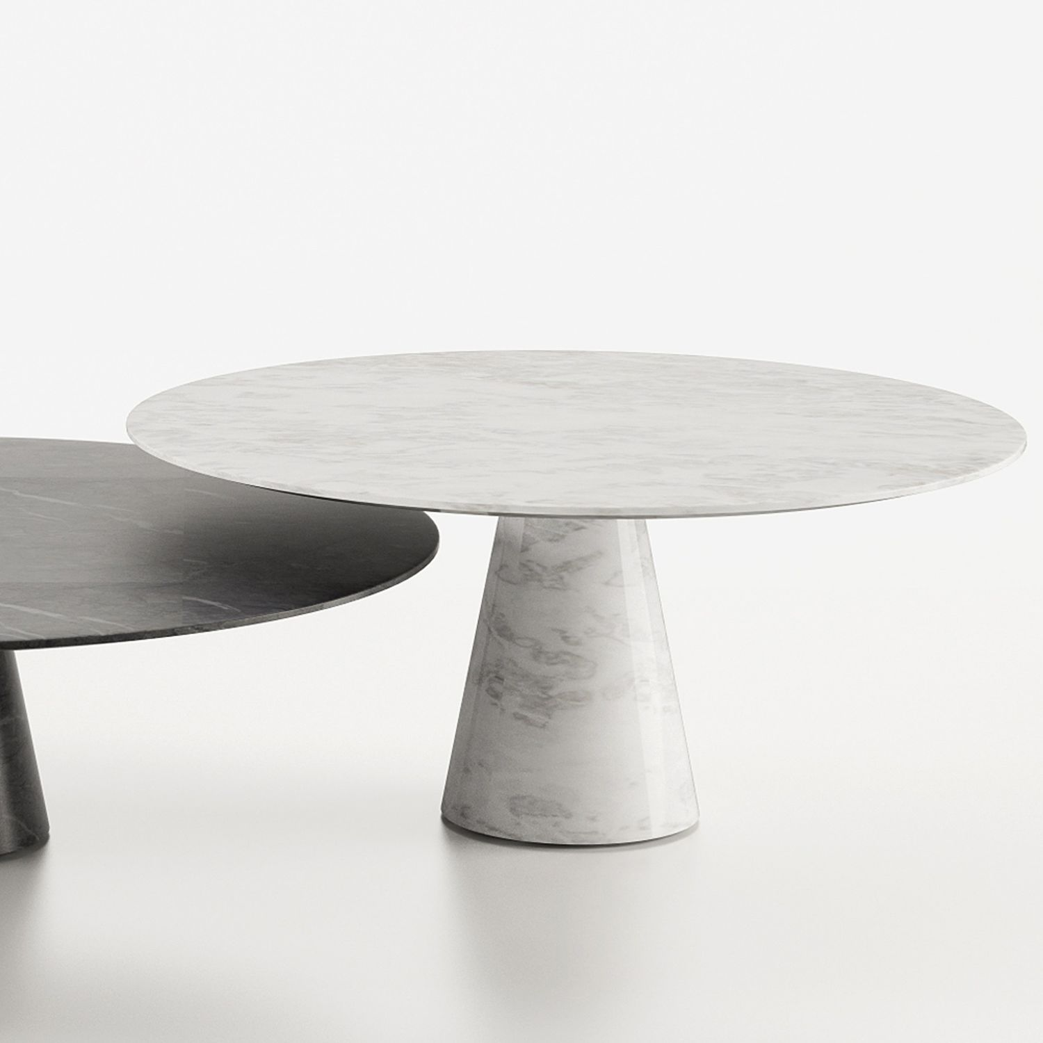 Contemporary Dining Table / Marble / Round / By Christophe Pillet   IDEE