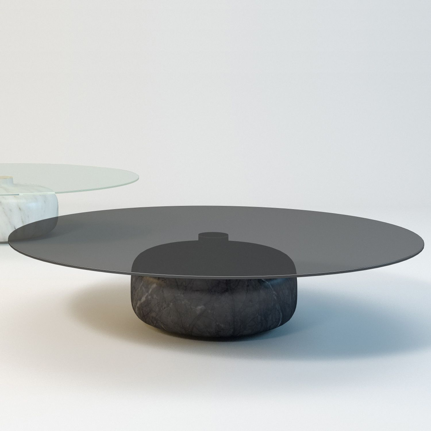 Contemporary coffee table smoked glass marble round inoa contemporary coffee table smoked glass marble round inoa geotapseo Choice Image